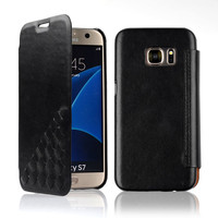 C&T Premium Protective Case Wallet GENUINE LEATHER Flip Cases for Samsung Galaxy S7