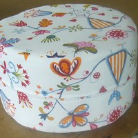 Affordable Printed Cotton Fabric Ottoman