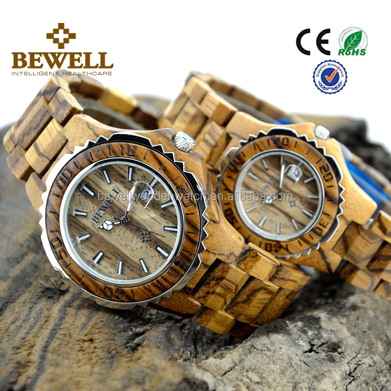 valentine day gifts wood and stainless steel watch japan movt diver watch factory price