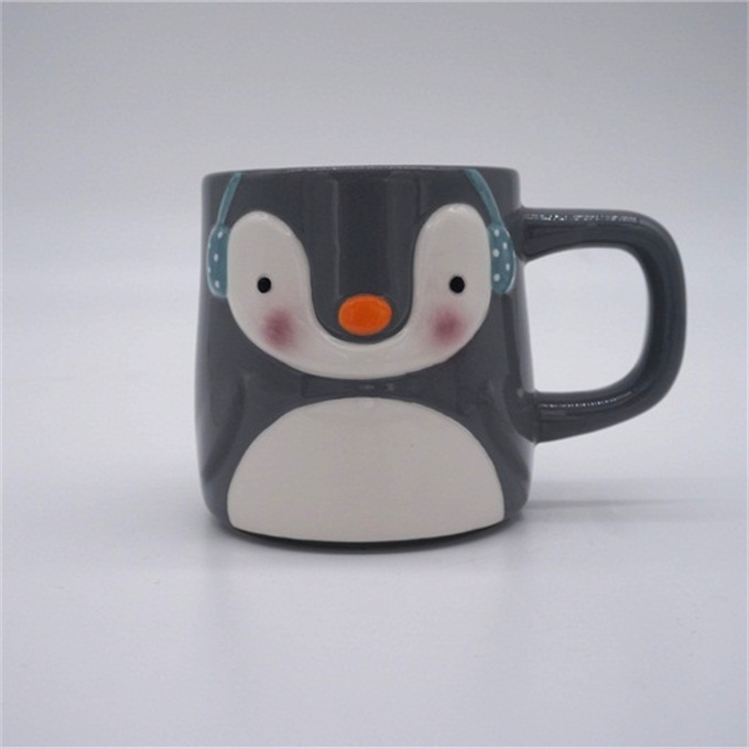 Christmas Gifts Ceramic Cup Lovely Festival 3D Snowman Coffee Mugs