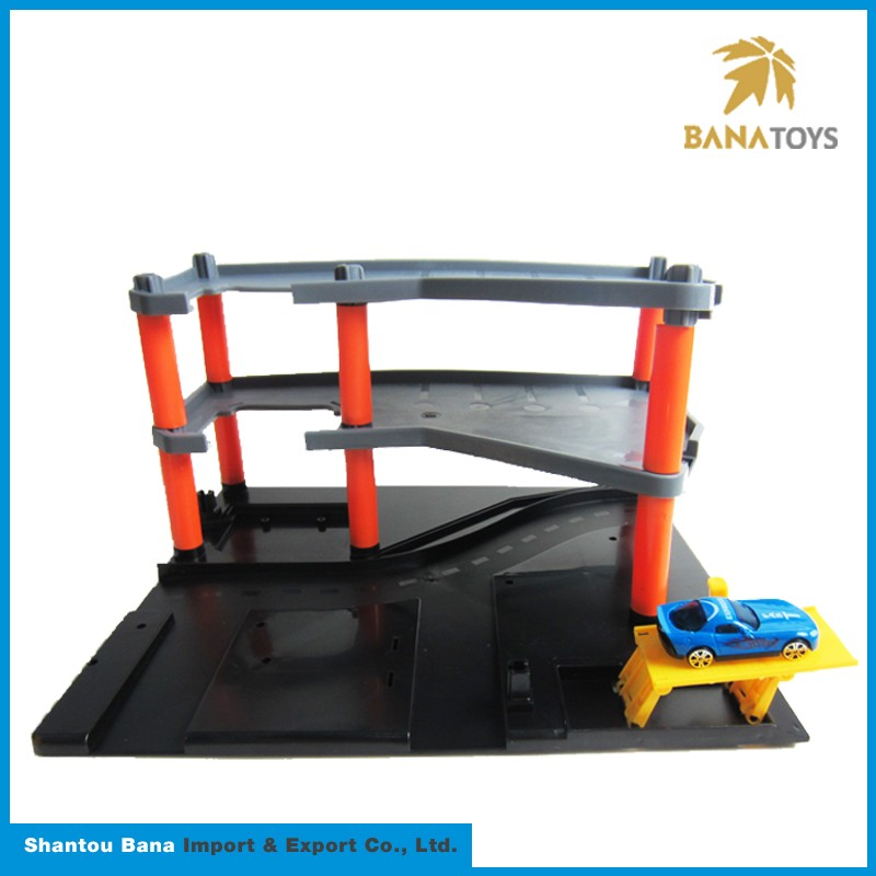 High demand convenient parking garage playset