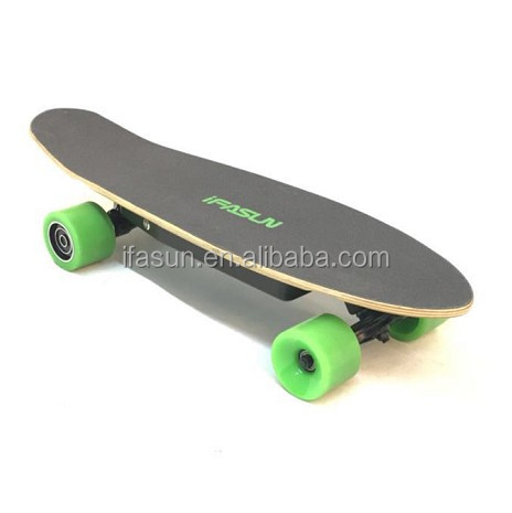 75mm PU Wheel Electric Skateboard Battery Pack Custom Offer Kids Safe Warranty Maple Skateboard Deck