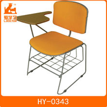 Seat/back is made of PP plastic leisure school furniture