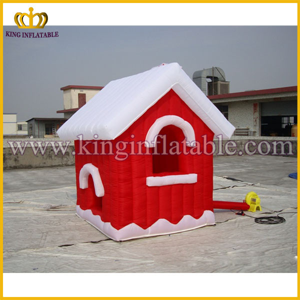 Cheap Christmas Inflatable Santa's Grotto, Inflatable Cabin For Christmas, Inflatable Xmas House