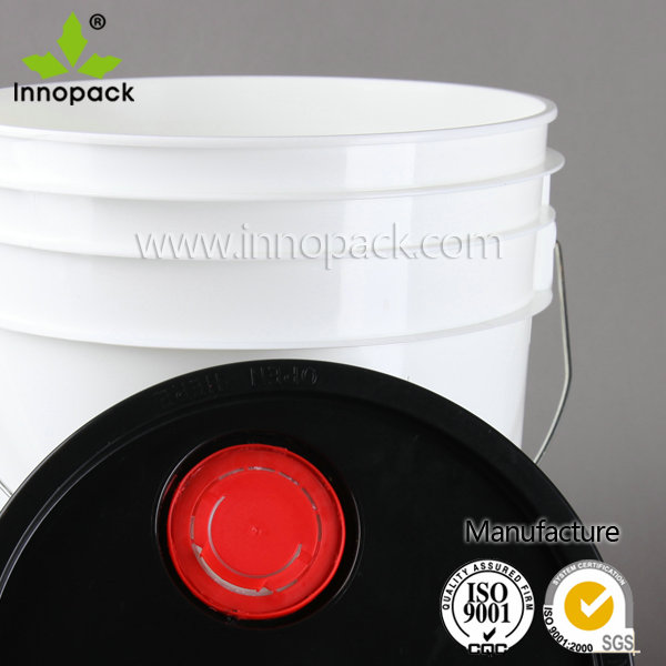 19L /5 Gallon plastic pail with lid with spout can bear 20kg container