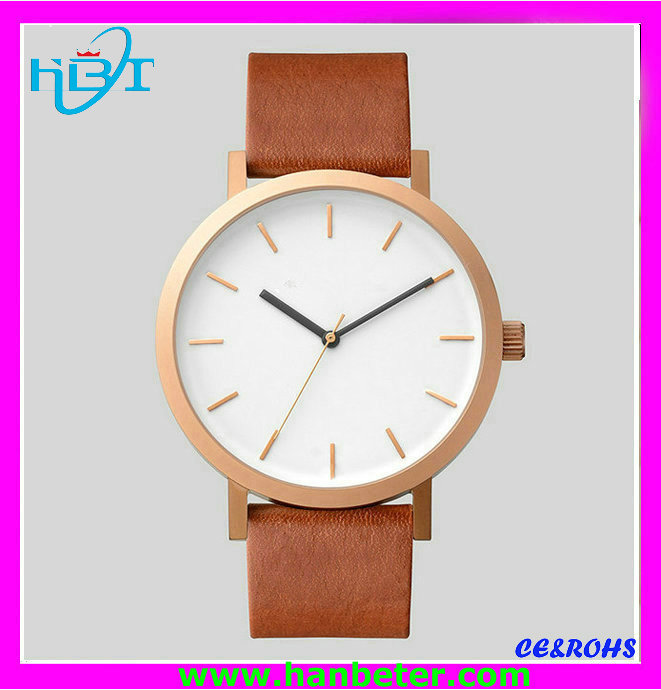 Shenzhen hanbeter hot selling custom stainless steel new watches 2017
