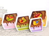 Gift use 4 in 1 nestable cake-like printing plastic box container for children