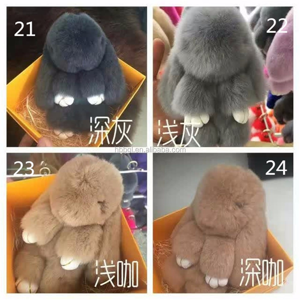Wholesale Price Rex Rabbit Kids Cute Soft Long Ear Bunny Real Rabbit Fur Toy For kids