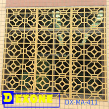 Aluminum artwort laser cut carved panel for building decoration