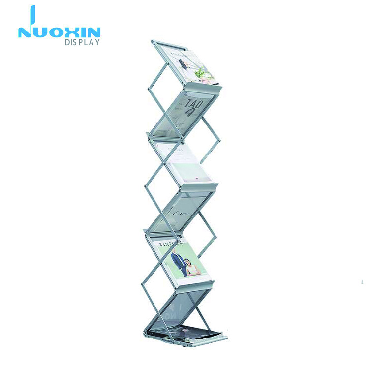 NuoXin Promotional catalogue aluminum stand brochure display stand