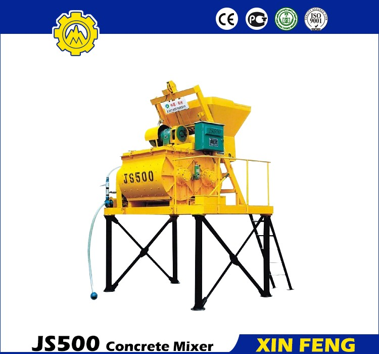 Full Automatic Electric Concrete Mixer Price js500 electric cement concrete mixer