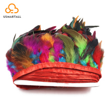 Wholesale factory price feather material,Rooster feather trims for decoration all color