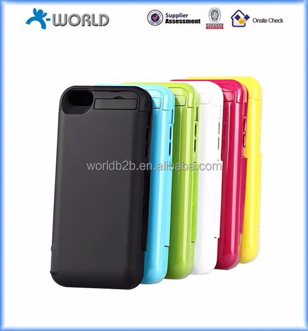 4200 mah protective leather cover battery case for iphone, battery case power band