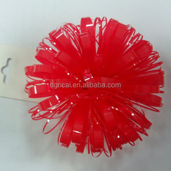 "3.5"" Fancy Red Plastic Gift Ribbon Bow"