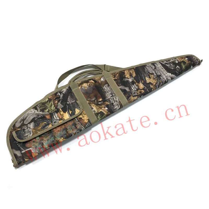 Sports hunting bag rifle gun bag with camo pattern well hidden 600D camo oxford gun case