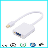 Hot selling support hot plug mini DP to vga converter cable max resolution with 1080P