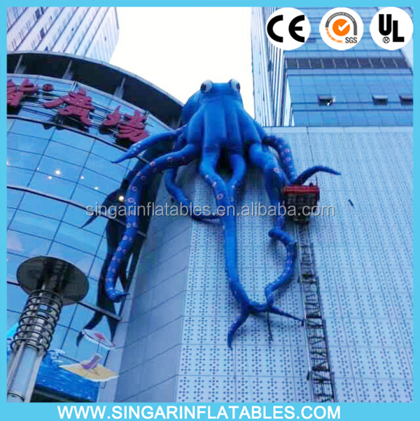 Outdoor giant inflatable climbing octopus