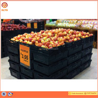HDPP Material fruit and vegetable storage supermarket shopping plastic crates