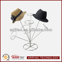 floor standing metal hat display stand