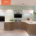Modern italian LCT high gloss simple modular finish kitchen cupboard