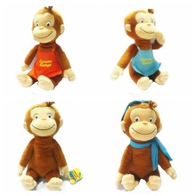 hotsale customed soft stuffed curious kids plush monkey toys