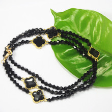 Wholesale Black and White Costume Jewelry Fashion Women Plastic Crystal Necklace Jewelry