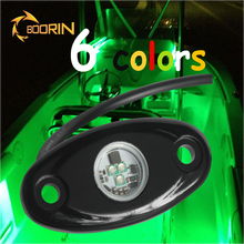 12v fish Boat Safety lights RGB 5 colors blue red green yellow warm white 12v led black light for fishing boat