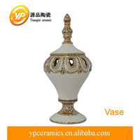 porcelain flower vase ceramic pot with lid