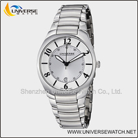 Silver tone stainless steel casual quartz watch UN5212G-1