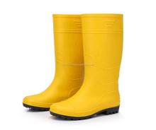 Cheap Yellow PVC Galoshes, Jelly Water Garden Shoes, Rubber Rain Boots, Waterproof Gum footwear