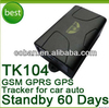 long battery life gps tracker 104 COBAN Container/ vehicles gps gprs gsm tracker with internal antennas