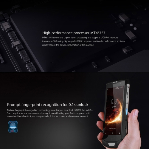 Latest unlocked Blackview BV8000 Pro 6GB 64GB 4180mAh 5.0 inch Android 7.0 MTK6757 Octa Core 3g 4g 5g mobile phone