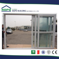 UPVC 3 tracks interior plastic veranda sliding door