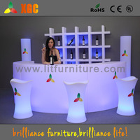 luminous cocktail table / glow mobile cocktail bar counter/ led portable cocktail bar (GF330)