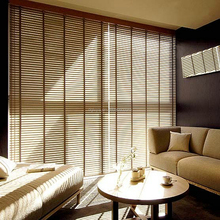 proveedor china 35mm Horizontal Blinds Wooden Blinds