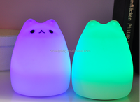 Room decoration silicon lamp 7 Color Changing LED Lamp kids animal night light