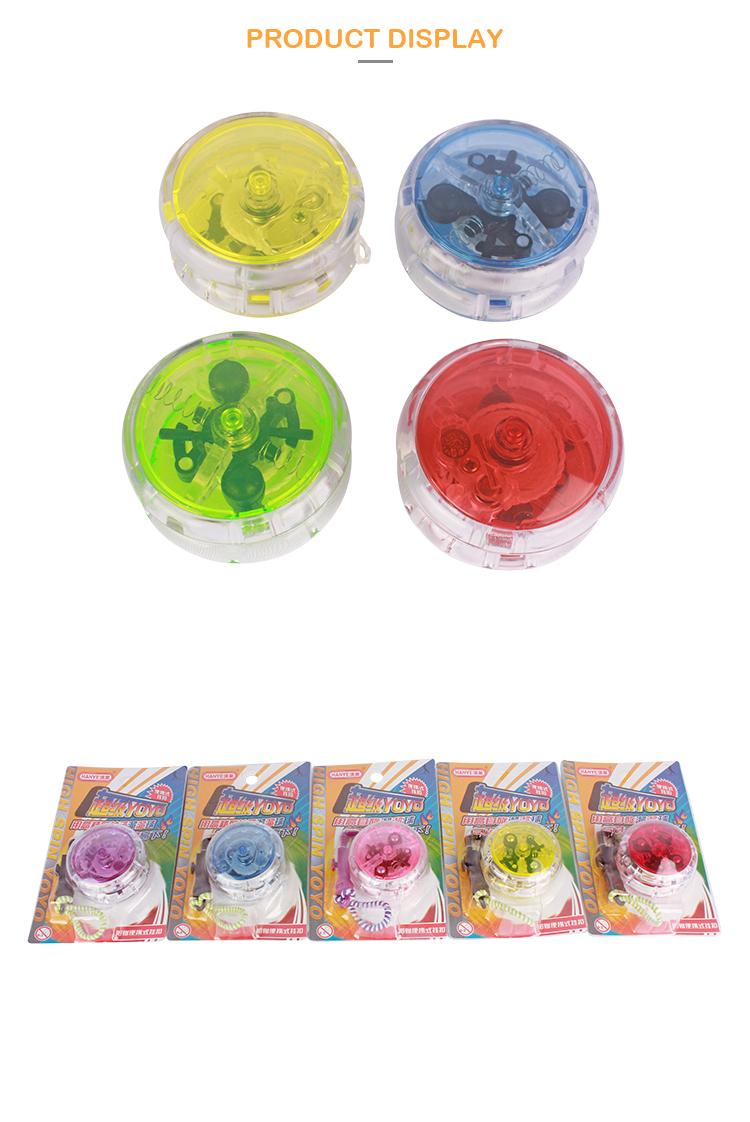 HY5801 Promotional colorful customize Print children plastic professional yoyo