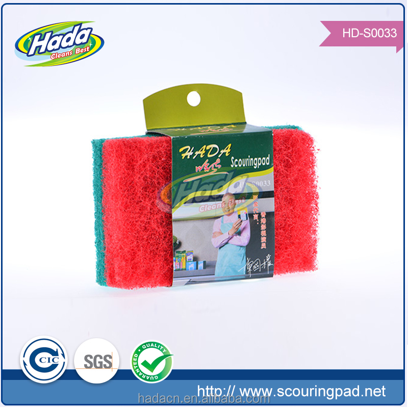 daily consumer products scouring pad for kitchen cleaning