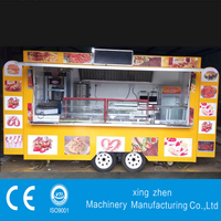 The best selling mobile fast food van for sale