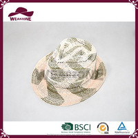 China product cheap folding straw fedora hat for sale