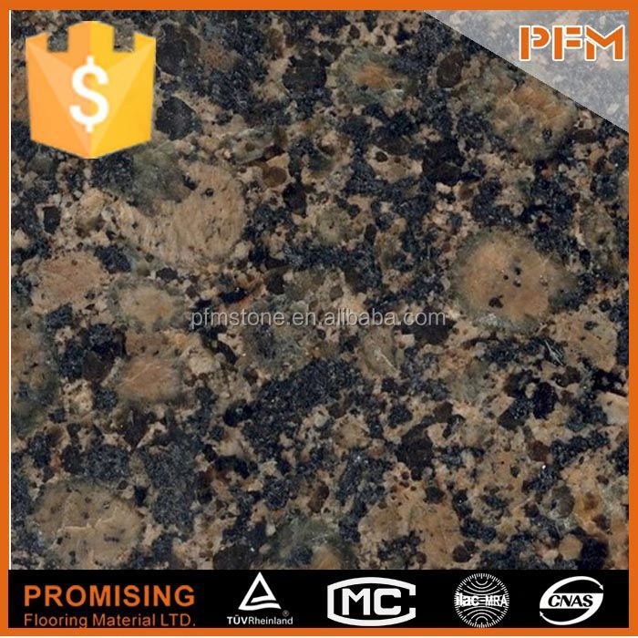wholesale Black galaxy granite countertop from manufacture with free wood packing