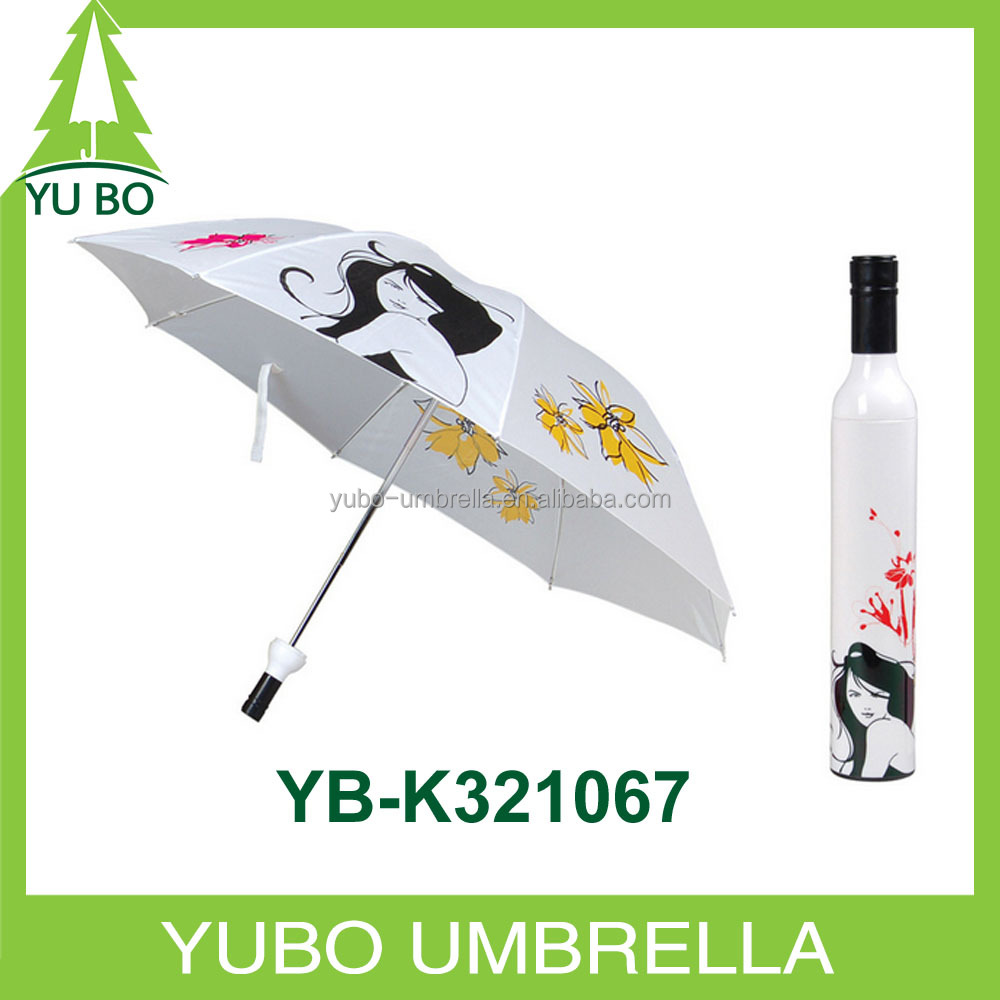 wholesale custom shape cheap wine bottle umbrella