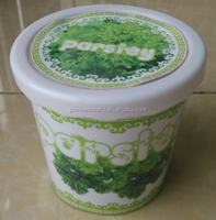 flower and herb plastic pot