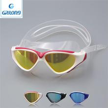 Customized logo colorful anti-fog good quality adult swimming goggle