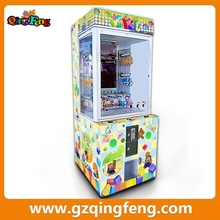 Qingfeng build brick arcade game win toy prize machine coin operated kids toy crane machine