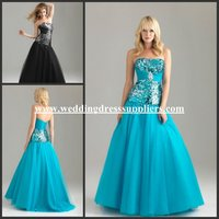 NTM6403 New Strapless A-line Sequins Australian Prom Dresses 2015