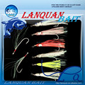 Lanquan silver wire squid part assisted hook fishing lure