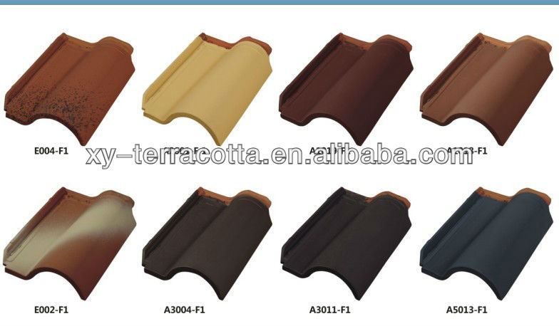 Foshan Red clay terracotta roof tile made in China