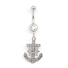 Fashion anchor jewelry belly ring with boat helm