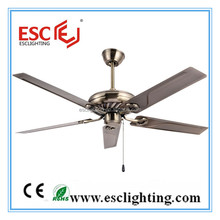 Modern 3 speed wooden ceiling fan with five blades
